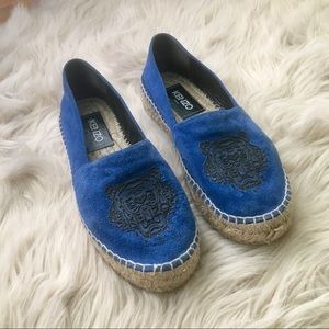 e735c307b90 Kenzo Shoes - Kenzo Tiger Triple-Platform Espadrille in Blue